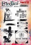E Courtney Franich ECF10 Paperartsy a5 cling rubber stamp set
