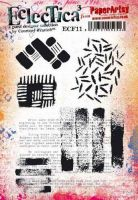 E Courtney Franich ECF11 Paperartsy a5 cling rubber stamp set