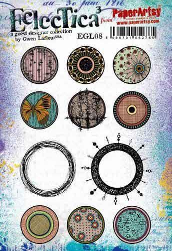 E Gwen Lafleur Paperartsy A5 Cling Rubber Stamp Set (EGL08)
