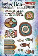 Gwen Lafleur (EGL04) PaperArtsy A5 cling rubber stamp set