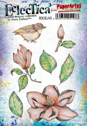 Gwen Lafleur (EGL05) PaperArtsy A5 cling rubber stamp set