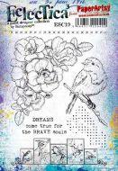 E Scrapcosy Paperartsy A5 Cling Rubber Stamp Set (ESC19)