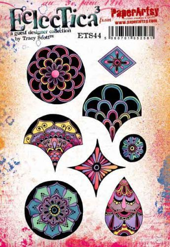 E Tracy Scott Paperartsy A5 Cling Rubber Stamp Set (ETS44)