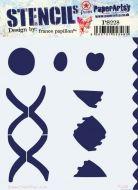 France Papillon PS228 Paperartsy Regular Stencil