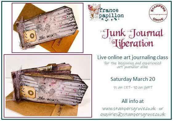 France Papillon - Junk Journal Liberation - Online Class 20 March 2021, 10am (UK)
