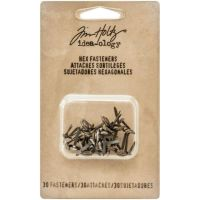 """Idea-Ology Metal Hexagon Paper Fasteners .25 To .5"""" 30/Pkg (TH93268)"""