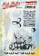 PaperArtsy Hot Picks 2101 Cling stamp set (A5 size) HP2101EZ