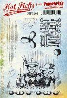 PaperArtsy Hot Picks 2101 Cling stamp set (A5 size) HP2101EZ
