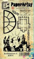 Architecture Plate 4 Ink and the Dog PaperArtsy A6 Cling Rubber Stamp (ARC4EZ)