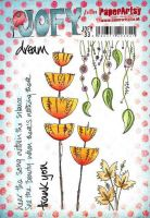 Jo Firth Young 33 (JOFY33) PaperArtsy A5 sized Cling Rubber Stamp Set