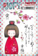 JOFY100 Jo Firth Young Paperartsy A5 Cling Rubber Stamp Set