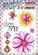 JOFY98 Jo Firth Young Paperartsy A5 Cling Rubber Stamp Set