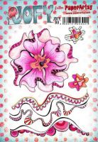 JOFY99 Jo Firth Young Paperartsy A5 Cling Rubber Stamp Set