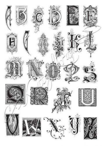 Alphabet Monograms (KTZ105) A4 Unmounted Rubber Stamp Set by Katzelkraft