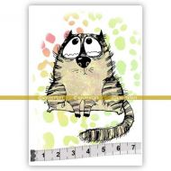 Big Cats 01 Albert (SOLO072) Single Unmounted Rubber Stamp by Katzelcraft