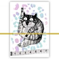 Big Cats 10 Jasper (SOLO081) Single Unmounted Rubber Stamp by Katzelcraft