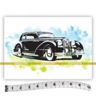 Car (SOLO019) Single Unmounted Rubber Stamp by Katzelcraft