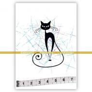 Cat 01 (SOLO001) Single Unmounted Rubber Stamp by Katzelcraft