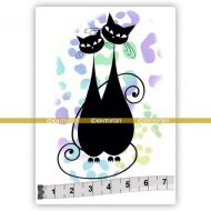 Cat 05 (SOLO028) Single Unmounted Rubber Stamp by Katzelcraft