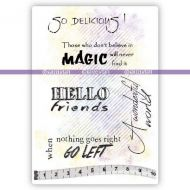 English Quotes (KTZ139) A6 Unmounted Rubber Stamp Set by Katzelkraft
