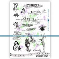 Flowers & Nature (KTZ274) A5 Unmounted Rubber Stamp Set by Katzelkraft