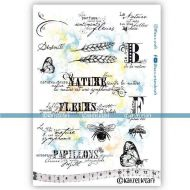Nature and flowers (KTZ275) A5 Unmounted Rubber Stamp Set by Katzelkraft