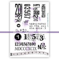 Numbers (KTZ273) A6 Unmounted Rubber Stamp Set by Katzelkraft