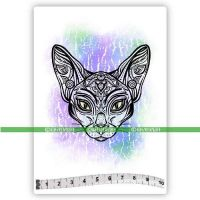 Sphynx Cat (SOLO152) Single Unmounted Rubber Stamp by Katzelcraft