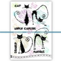 The Furious Cats (KTZ127) A5 Unmounted Rubber Stamp Set by Katzelkraft