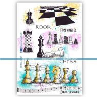 The Kings Gambit (KTZ279) A5 Unmounted Rubber Stamp Set by Katzelkraft