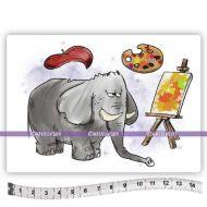 Van Gogh the Elephant (KTZ269) A6 Unmounted Rubber Stamp Set by Katzelkraft
