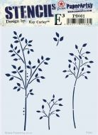 Despatch from 12 May - PaperArtsy Kay Carley Stencil 061 {EKC} PS061