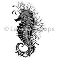 Sebastian the Seahorse (LAV496) by Lavinia Stamps