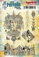 Lynne Perrella 28 Cling Rubber Stamp Set (LPC028)