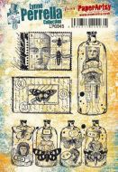 Lynne Perrella Paperartsy A5 Cling Rubber Stamp Set (LPC045)