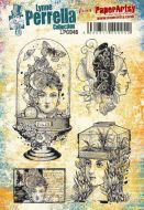 Lynne Perrella Paperartsy A5 Cling Rubber Stamp Set (LPC046)