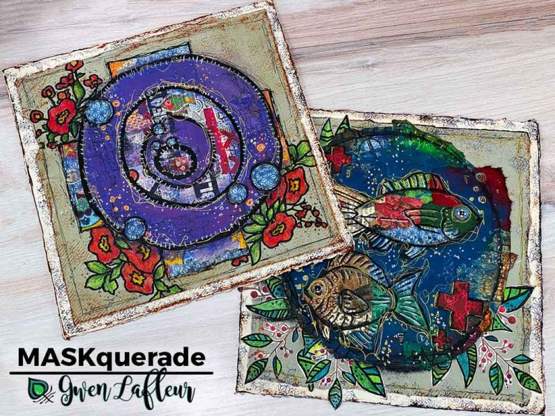 Gwen MASKquerade A Live Online Mixed Media Workshop - Saturday 24th October (4pm UK time)