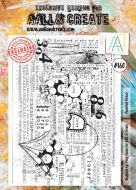 No. 160 Pencilled Flower Aall and Create Stamp Set (A4)