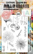 No. 177 Sketched Happiness Aall and Create Stamp Set (A6)