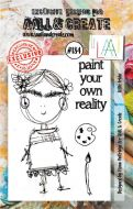 No. 184 Little Frida Aall and Create Stamp Set (A7)