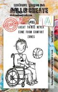 No. 185 Basket Ball Kid Aall and Create Stamp Set (A7)