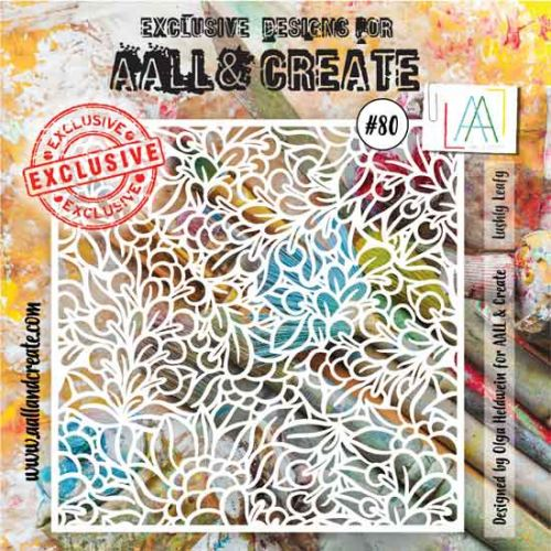 Lushly Leafy - No. 80 Aall and Create Stencil - 6 in by 6 in (15cm by 15cm)