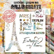 Paris - No. 83 Aall and Create Stencil - 6 in by 6 in (15cm by 15cm)