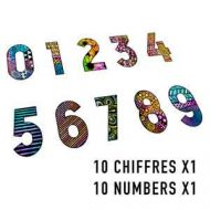 Number set (10 cling rubber stamps 5cm by 7cm) by Carabelle Studio
