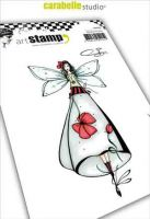 Poppy fairy Fee Coquelicot Soizic a6 cling stamp by Carabelle Studio SA60403