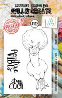 No. 102 Positive Vibes Aall and Create A7 Stamp Set by Olga Heldwein
