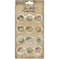 Expected approx 23 April Quote Flair Buttons Tim Holtz Idea-Ology 12/Pkg (TH94116)
