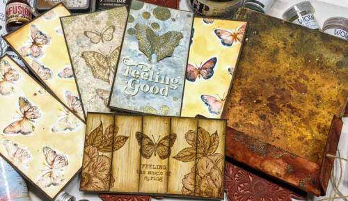 Tuition Fee for Online Class with Raquel Burrillo  - A folder full of Butterflies...and techniques - Saturday 27 February 1pm (UK time)