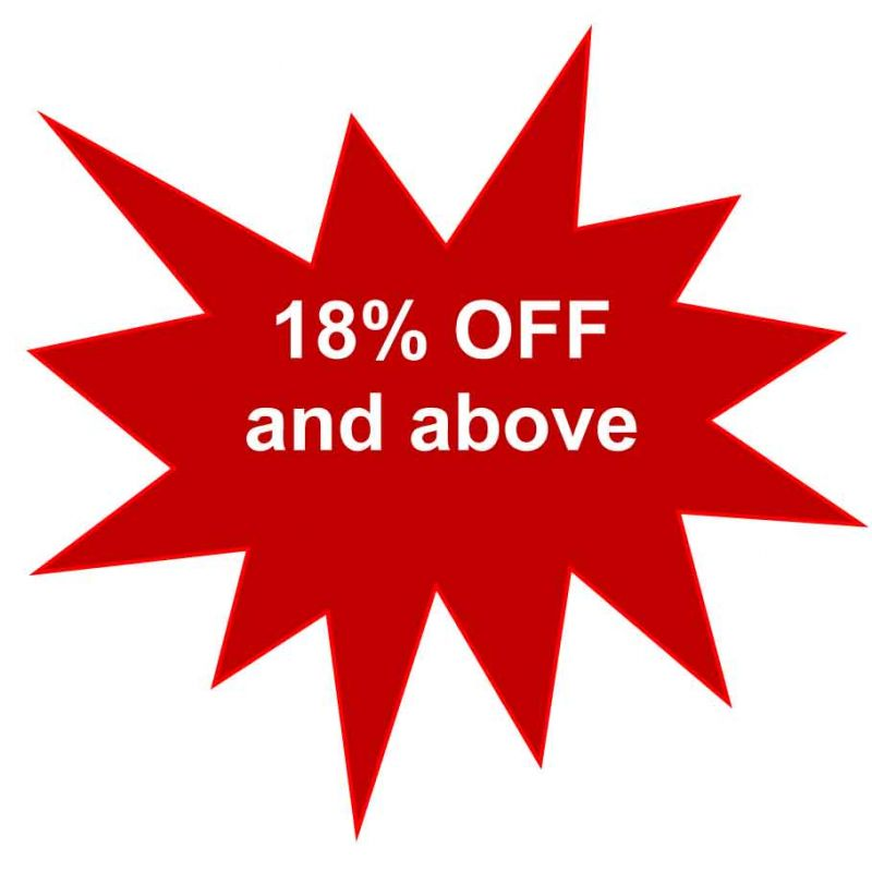 Aall and Create (18% off and above)