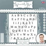 Industrial Blueprint Simple Alphabet - Phill Martin Cling Rubber Stamps (SYCL0013)